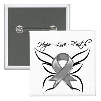 Hope Love Faith Butterfly - Diabetes Buttons