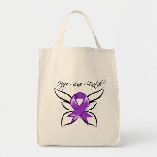 Hope Love Faith Butterfly - Fibromyalgia Canvas Bag