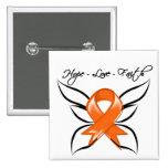 Hope Love Faith Butterfly - Multiple Sclerosis Pin