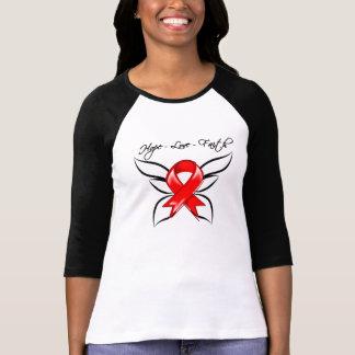 Hope Love Faith Butterfly - Stroke Tee Shirts