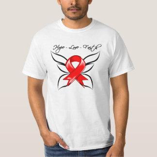 Hope Love Faith Butterfly - Stroke Tshirt