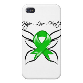 Hope Love Faith Butterfly - Traumatic Brain Injury iPhone 4 Cover
