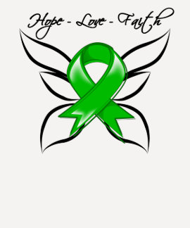 Hope Love Faith Butterfly - Traumatic Brain Injury T Shirt