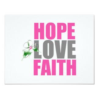 Hope Love Faith Christmas Holly Custom Announcements