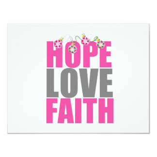 Hope Love Faith Christmas Ornaments Invitation