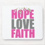 Hope Love Faith Christmas Ornaments Mouse Pad
