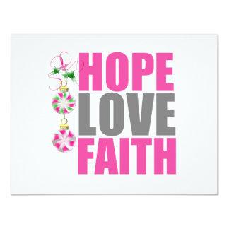 Hope Love Faith Christmas Ornaments v1 Invitations