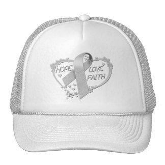 Hope Love Faith Heart (grey) Trucker Hat