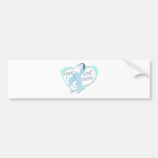 Hope Love Faith Heart (light blue) Bumper Sticker