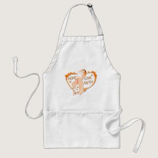 Hope Love Faith Heart (Orange) Adult Apron