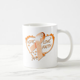 Hope Love Faith Heart (Orange) Coffee Mug