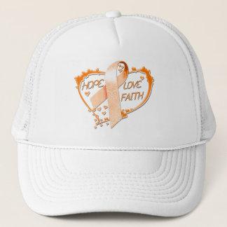 Hope Love Faith Heart (Orange) Trucker Hat