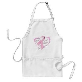 Hope Love Faith Heart (pink) Adult Apron