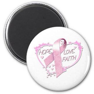 Hope Love Faith Heart (pink) Magnet