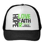 Hope Love Faith Mental Health Awareness Trucker Hat