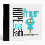 Hope Love Faith Prayer Addiction Recovery 3 Ring Binders