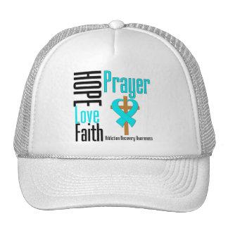 Hope Love Faith Prayer Addiction Recovery Trucker Hat