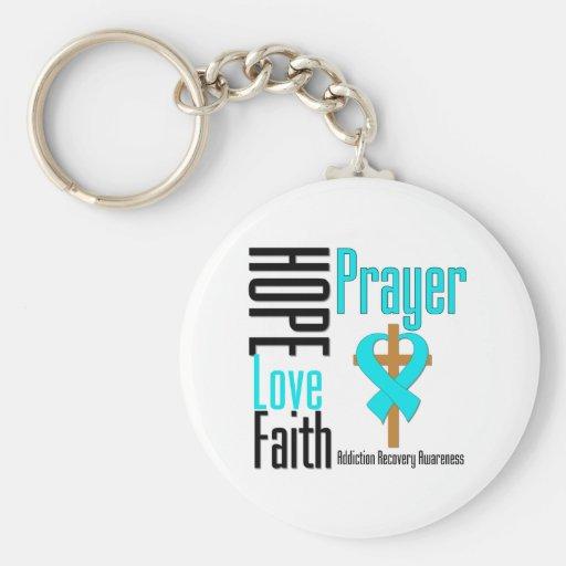 Hope Love Faith Prayer Addiction Recovery Key Chains