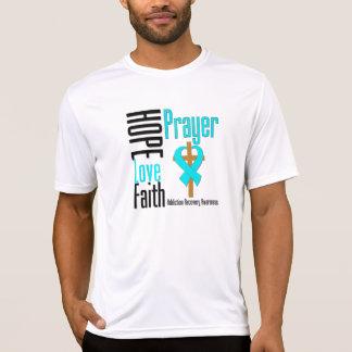Hope Love Faith Prayer Addiction Recovery Tee Shirt