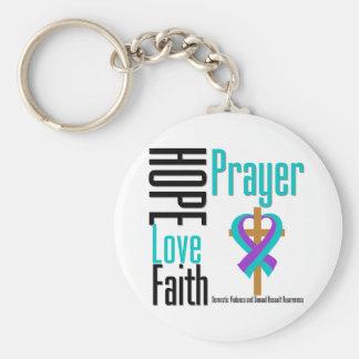 Hope Love Faith Prayer Domestic Violence Keychain