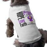 Hope Love Faith Prayer Ribbon Domestic Violence Pet Clothes