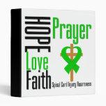 Hope Love Faith Prayer Spinal Cord Injury 3 Ring Binders