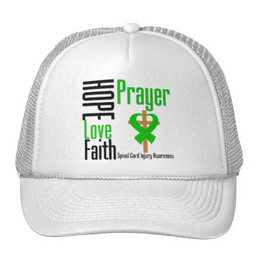 Hope Love Faith Prayer Spinal Cord Injury Trucker Hat