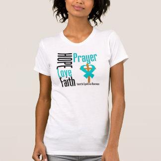 Hope Love Faith Prayer Tourette Syndrome Tee Shirts