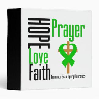 Hope Love Faith Prayer Traumatic Brain Injury Vinyl Binder