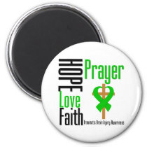 Hope Love Faith Prayer Traumatic Brain Injury Magnet