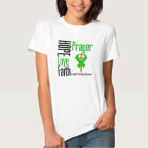 Hope Love Faith Prayer Traumatic Brain Injury Tee Shirt