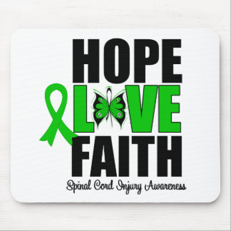 Hope Love Faith Spinal Cord Injury Mouse Pad