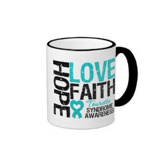 Hope Love Faith Tourette Syndrome Ringer Coffee Mug