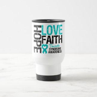 Hope Love Faith Tourette Syndrome 15 Oz Stainless Steel Travel Mug