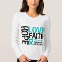 Hope Love Faith Tourette Syndrome T Shirt
