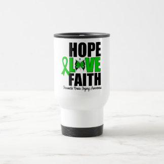 Hope Love Faith Traumatic Brain Injury Travel Mug