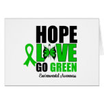 Hope Love Go Green Butterfly Greeting Card