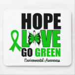 Hope Love Go Green Butterfly Mouse Pad