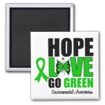 Hope Love Go Green Butterfly Refrigerator Magnets