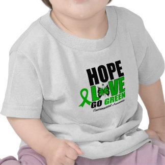 Hope Love Go Green Butterfly Tee Shirt