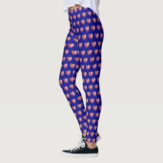Hope Love Hearts Customized Art Design Leggings