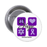 Hope Love Inspire Awareness Cancer Button