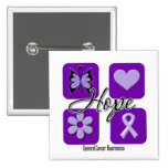 Hope Love Inspire Awareness Cancer Buttons