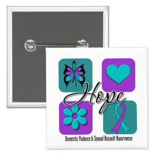 Hope Love Inspire Awareness Domestic Violence Button