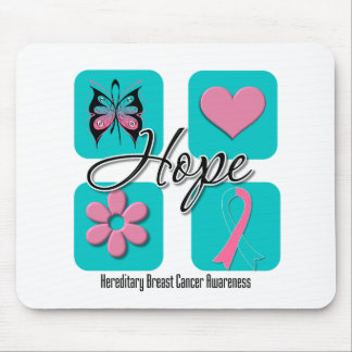 Hope Love Inspire Hereditary Breast Cancer Mouse Pads