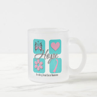 Hope Love Inspire Hereditary Breast Cancer Coffee Mugs