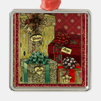 Hope, Love, Joy, Peace Gifts Ornaments