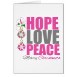 Hope Love Peace Ornament Greeting Card