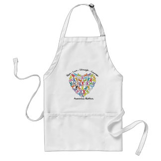 Hope Love Strength Courage Awareness Matters Adult Apron