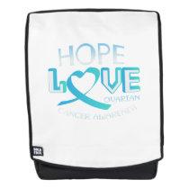 Hope Love Support Ovarian Cancer Awareness Backpack